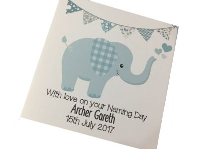 Personalised Christening/Naming Day Card